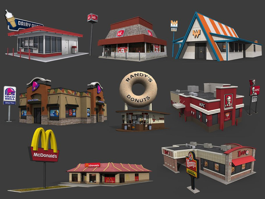 Fastfood Restaurants Pack