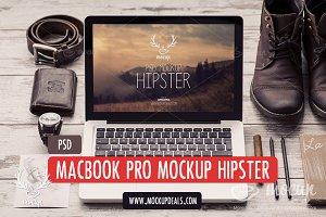 MacBook PSD Mockup Hipster