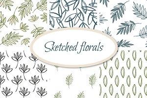 Sketched florals