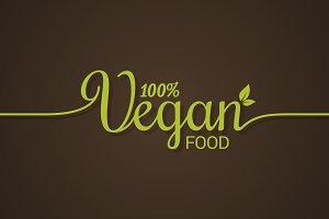 Vegan lettering logo.