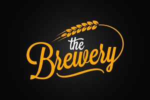Beer vintage lettering.