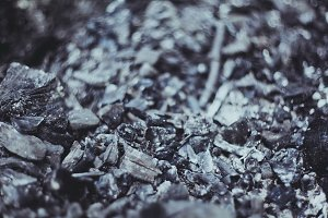 Natural black coals for background