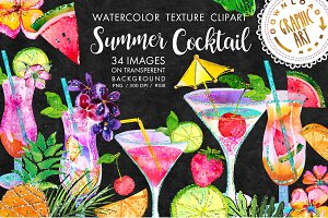 Summer Cocktail Clip Art
