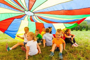 Rainbow children's hide-out