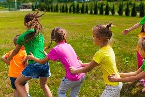 Positive children camp games
