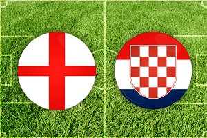 England vs Croatia football match