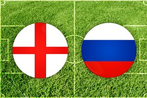 England vs Russia football match