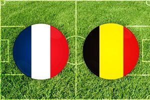 France vs Belgium football match