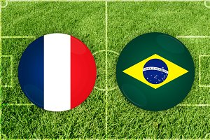 France vs Brazil football match