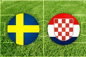 Sweden vs Croatia football match