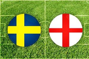 Sweden vs England football match
