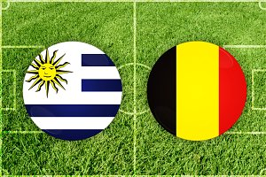Uruguay vs Belgium football match