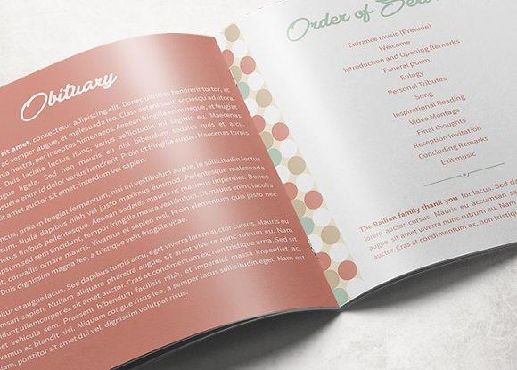 Modern Funeral Program Template Brochure Templates Creative Market