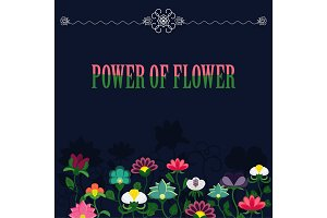 power of flower banner