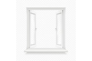White classic plastic window