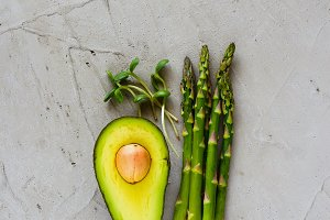 Raw green food