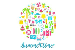 summer card on white
