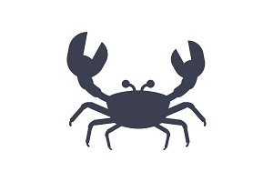 crabs black icon