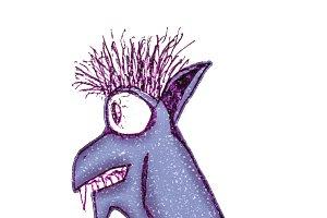 Funny Bat Character Drawing