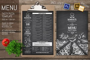 Pizzeria Restaurant Menu Template