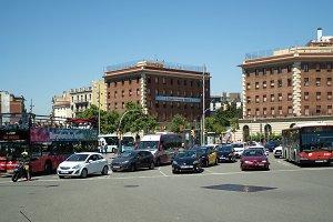 Traffic in Barcelona, Spain