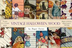 Vintage Halloween Wood