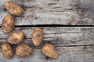 Dirty rusic potatoes harvst crop top