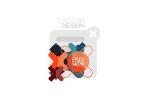 Flat design cross shape geometric