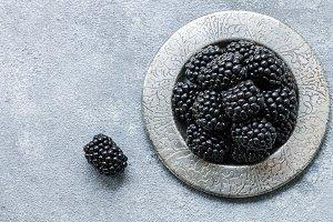 Fresh juicy organic BlackBerry