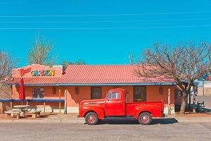 Beer Garden & the Red Truck