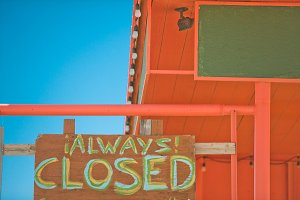 Always Closed Sign