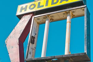 Vintage Holiday Inn Sign