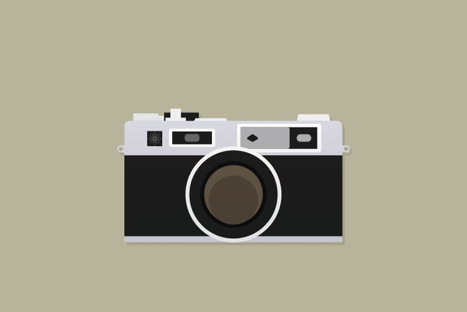 Camera Vintage Vector Png : Vintage rangefinder camera ~ illustrations ~ creative market