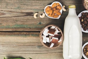Dairy free milk substitute drink and