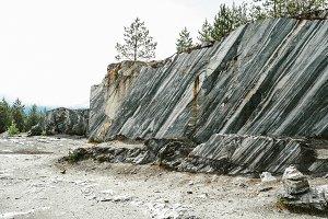 Italian quarry. Mountain Park