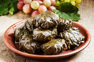 Traditional Armenian dolma (tolma) -