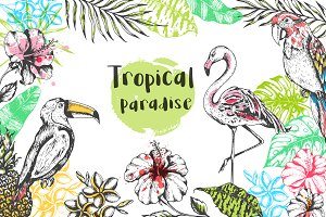 Vintage Tropical Design Kit