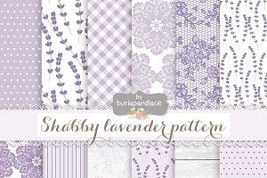 Shabby lavender pattern