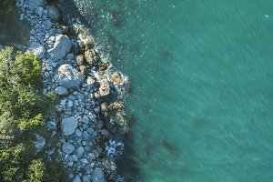 aerial sea and sone rock coast copy