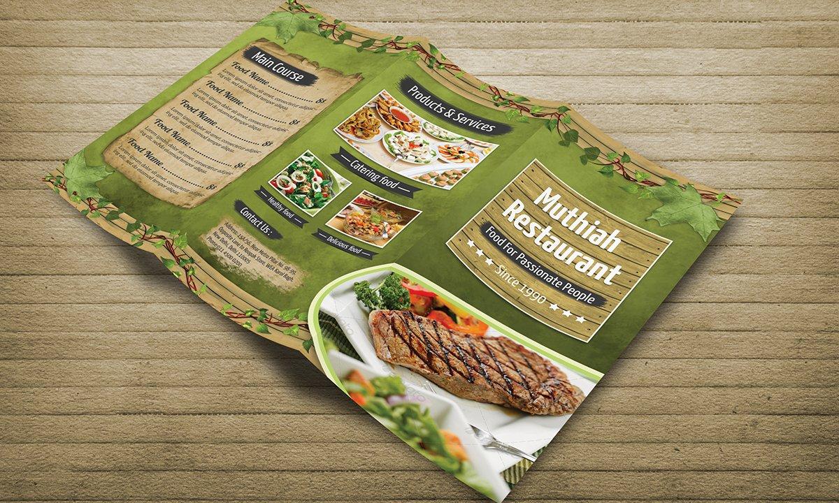 restaurant foods menu tri fold brochure templates creative market