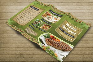 Restaurant Foods Menu Tri Fold