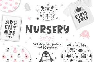 Nursery Prints & Posters + Patterns
