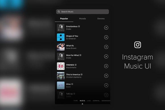 Instagram Music UI