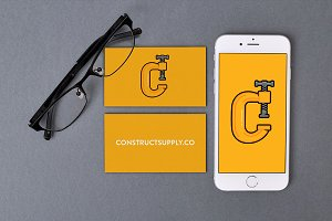 iPhone 6 & Business Cards PSD Mockup