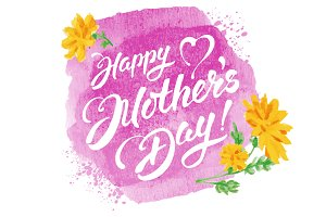 ✿ Mother's Day. Vector lettering.