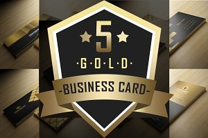 5 Gold Business Card Bundle