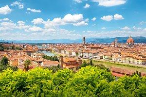Florence skyline on a sunny day