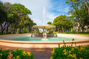 Fountain in Rimini. Italy.