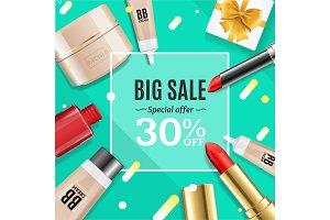 Cosmetic Big Sale Banner