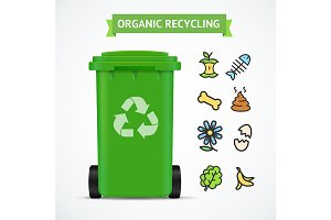 Trash Bin Organic Recycling Concept